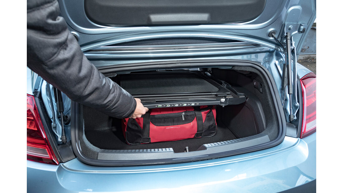 VW Beetle Cabrio, Kofferraum