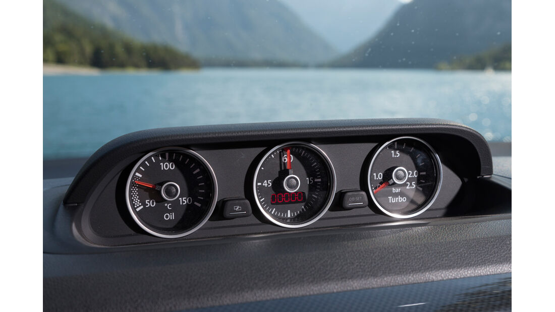 VW Beetle Cabrio, Rundinstrumente
