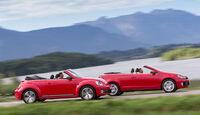 VW Beetle Cabrio, VW Golf Cabrio, Seitenansicht