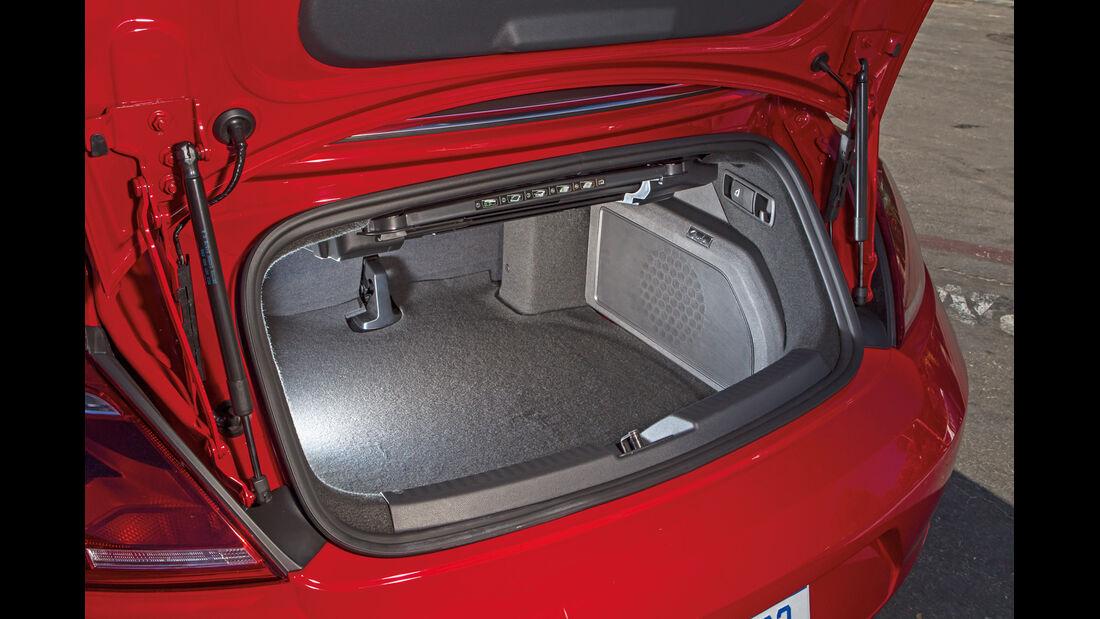 VW Beetle Cabriolet, Kofferraum