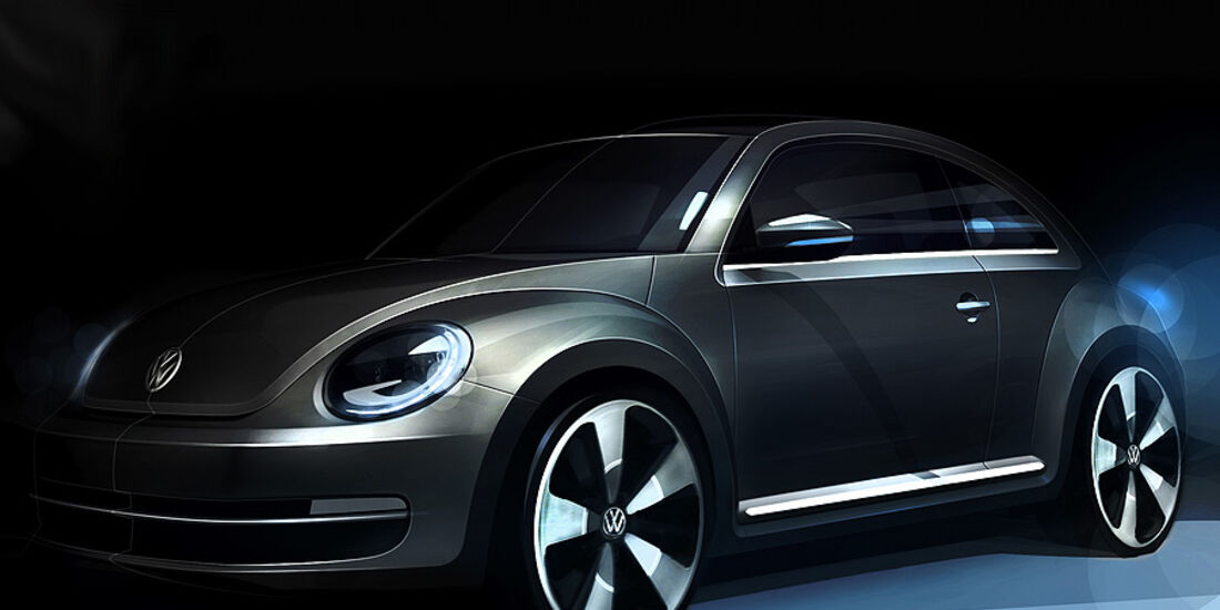 VW Beetle Designzeichnungen