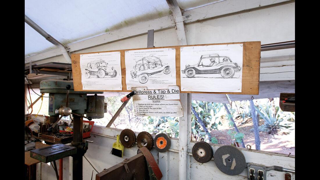 VW Buggy, Zeichnungen