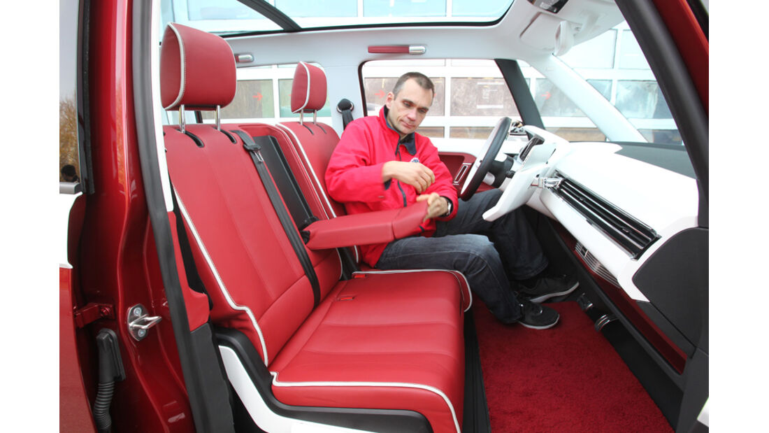 VW Bulli, Studie, Sitze, vorne, Jörn Thomas