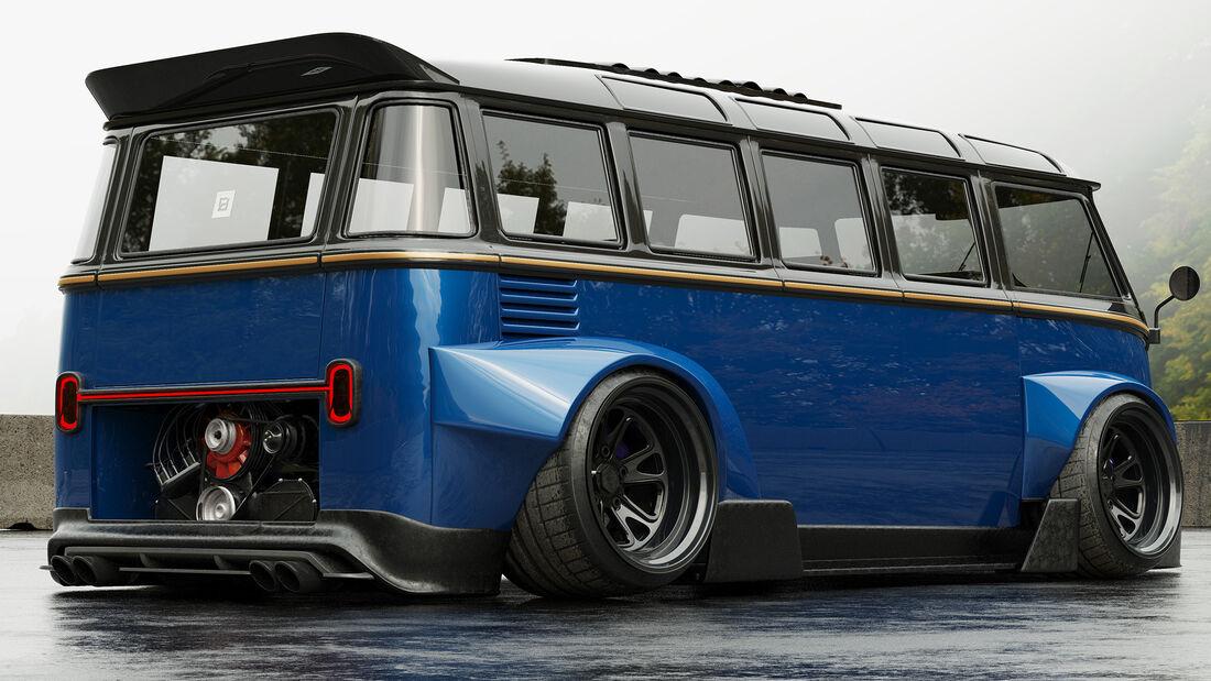 VW Bus Bulli Tuning tief Gulf Rendering