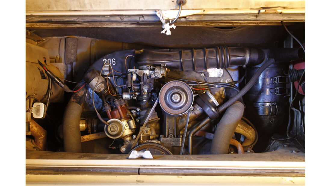 VW Bus T2, Detail, Antrieb, Motor, Boxermotor
