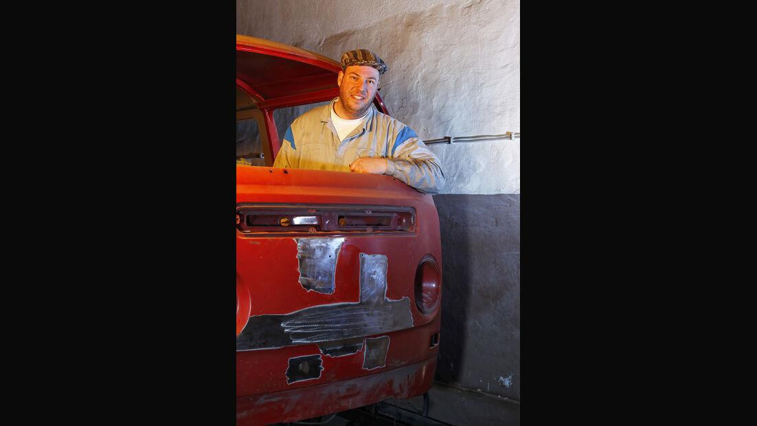 VW Bus T2, Detail, Porträt, Torsten Knieriem