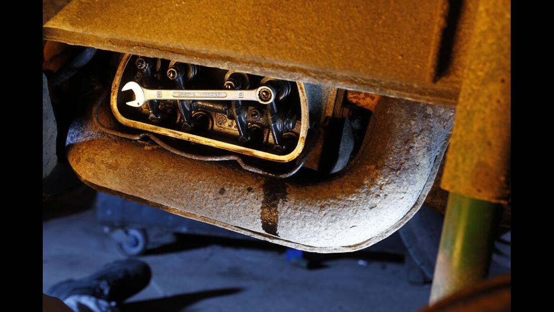 VW Bus T2, Detail, Ventilspiel
