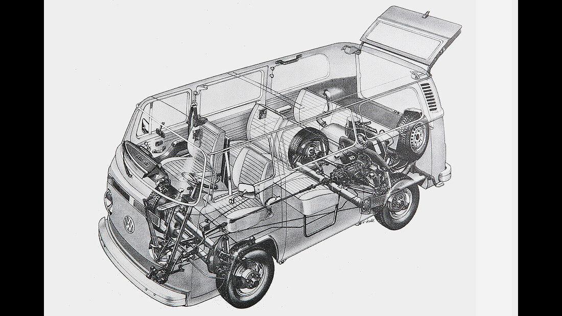 VW Bus T2 L - Phantomzeichnung