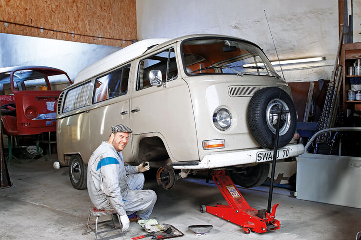 VW Bus T2, Torsten Knieriem, Werstatt