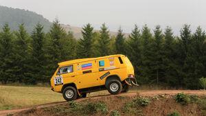 VW Bus T3 Rallye, Seitenansicht, Gelände