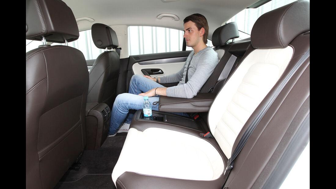 VW CC 1.8 TSI, Rücksitz, Beinfreiheit