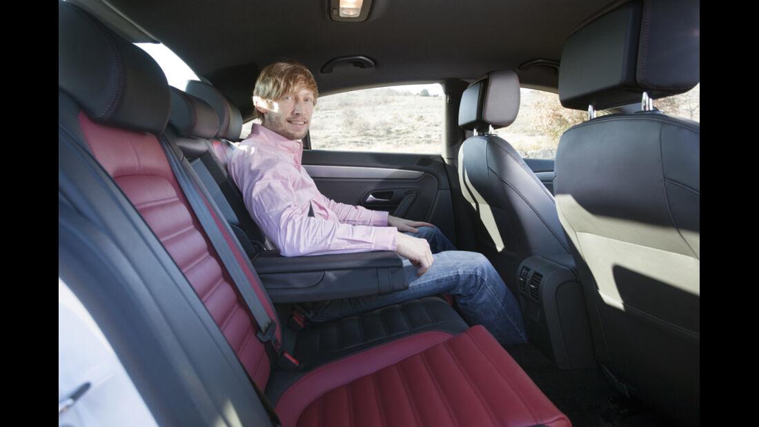 VW CC 2.0 TDI, Rücksitz, Rückbank