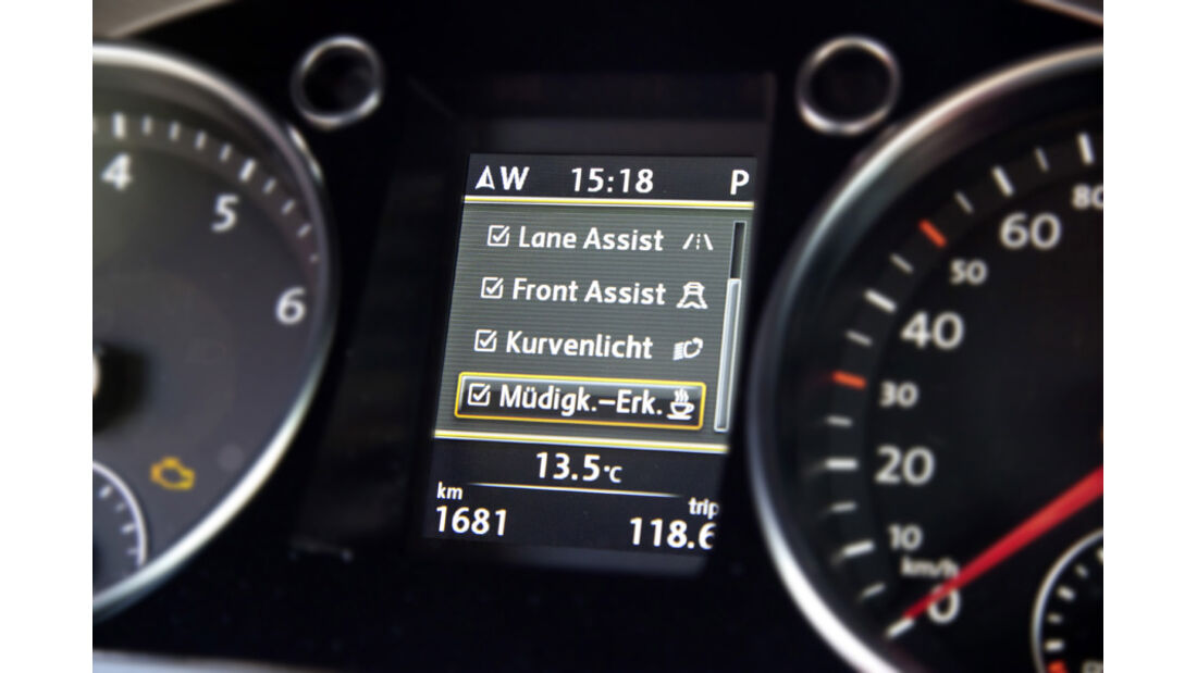 VW CC 2.0 TDI, Rundinstrumente, Tacho