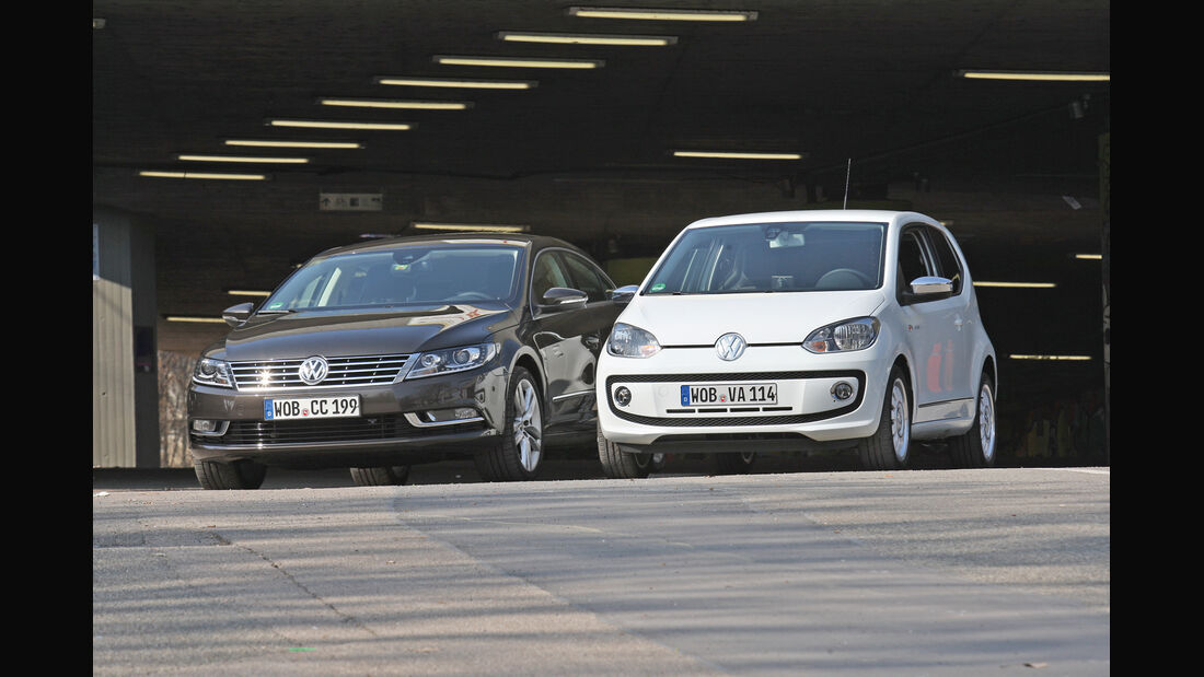 VW CC, VW Up, Frontansicht