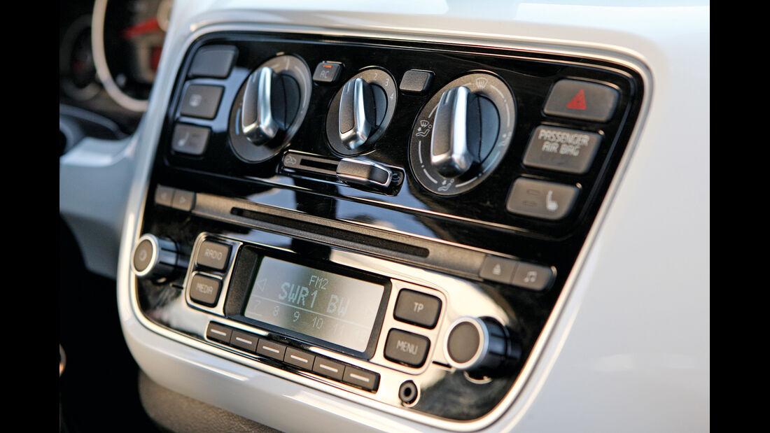 VW CC, VW Up, Mittelkonsole