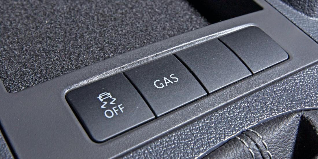 VW Caddy 1.6 Bi-Fuel, Bedienelemente