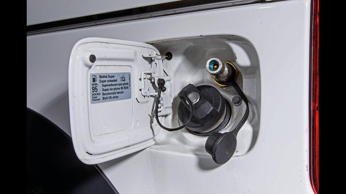 VW Caddy 2.0 Eco-Fuel, Tankstutzen