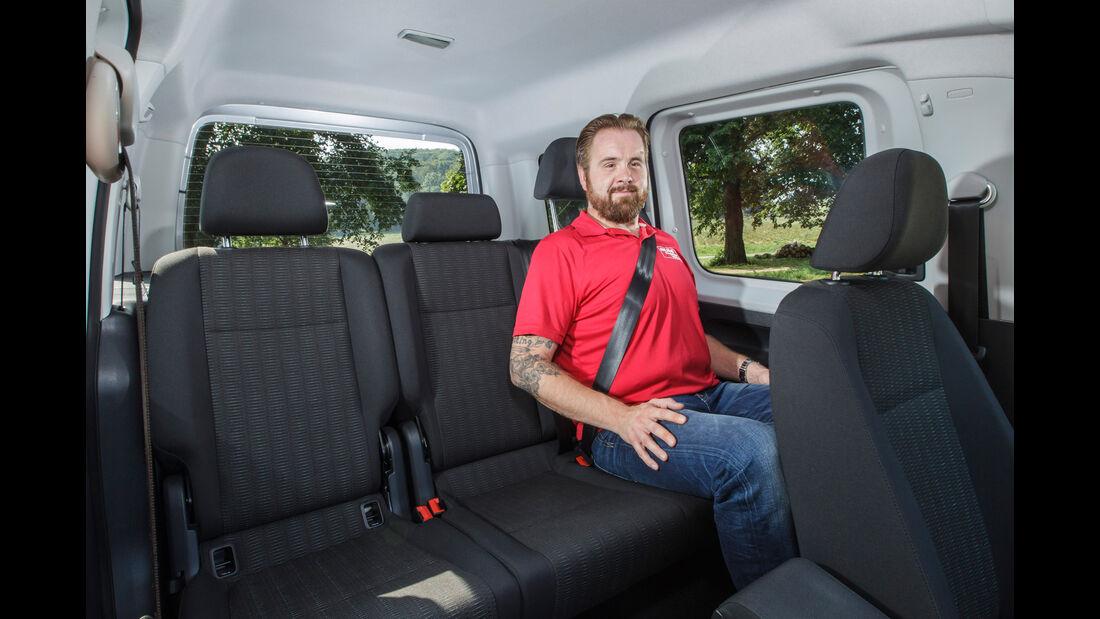 VW Caddy 2.0 TDI, Fondsitze