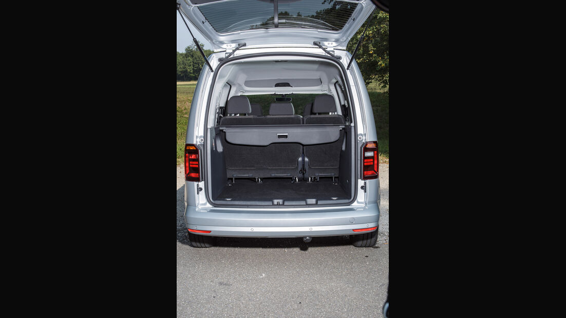 VW Caddy 2.0 TDI, Kofferraum, Sitze umklappen