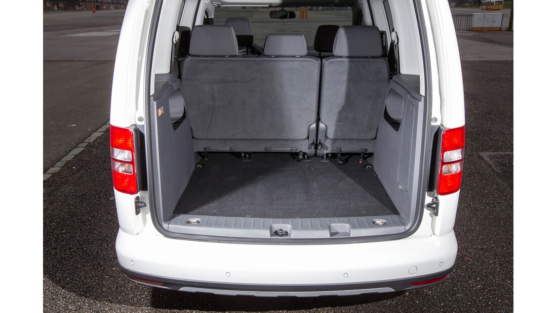 VW Caddy Bifuel, VW Caddy Ecofuel, Kofferraum