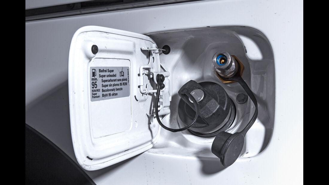 VW Caddy Bifuel, VW Caddy Ecofuel, Tankstutzen
