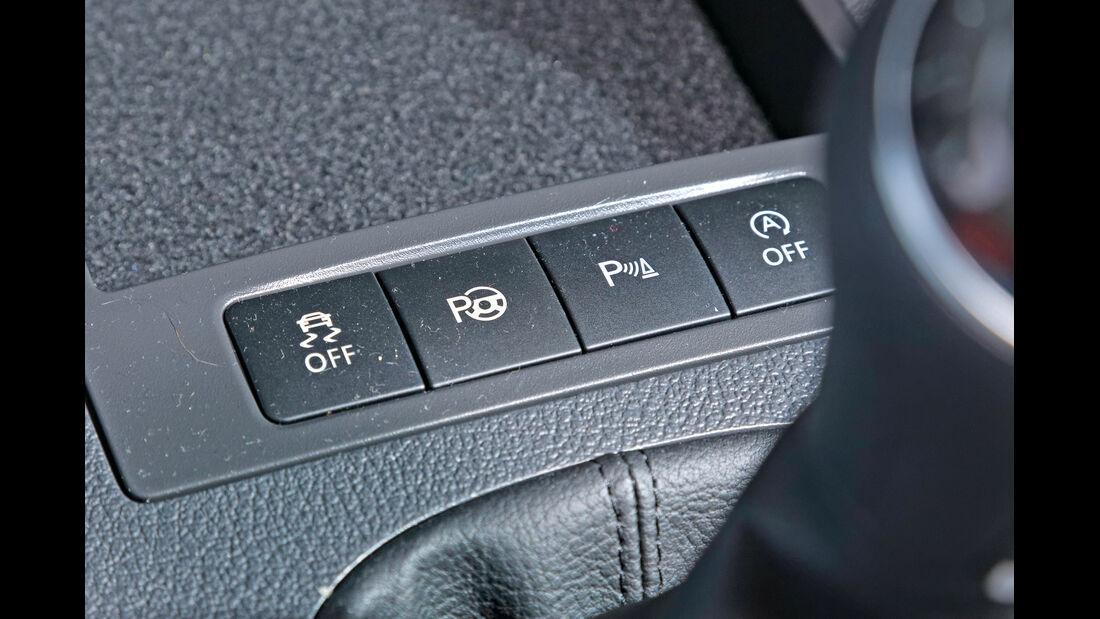 VW Caddy Blue Motion, Bedienelemente