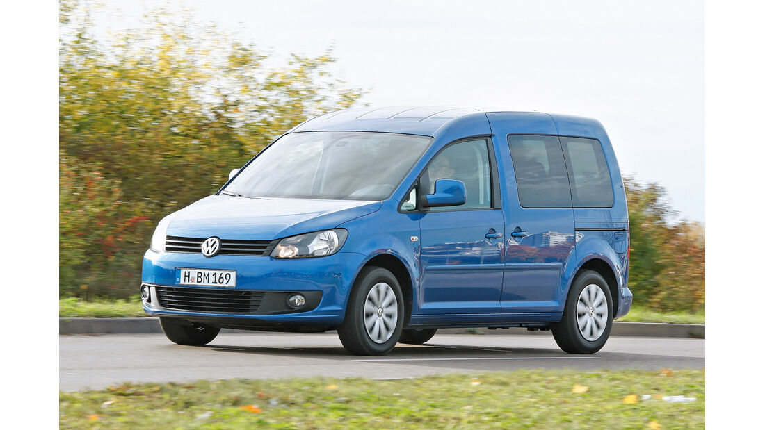 VW Caddy Blue Motion, Frontansicht