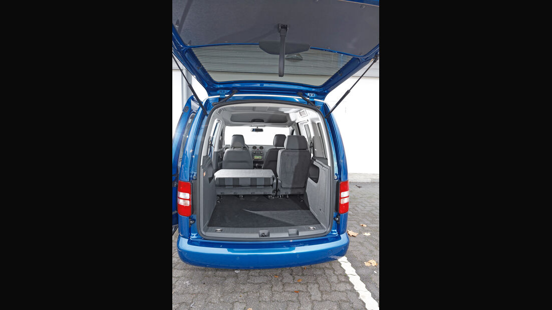 VW Caddy Blue Motion, Kofferraum, Heckklappe