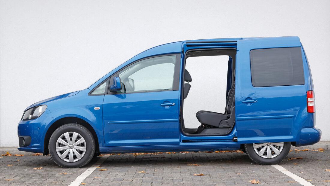 VW Caddy Blue Motion, Seitenansicht, Schiebetür