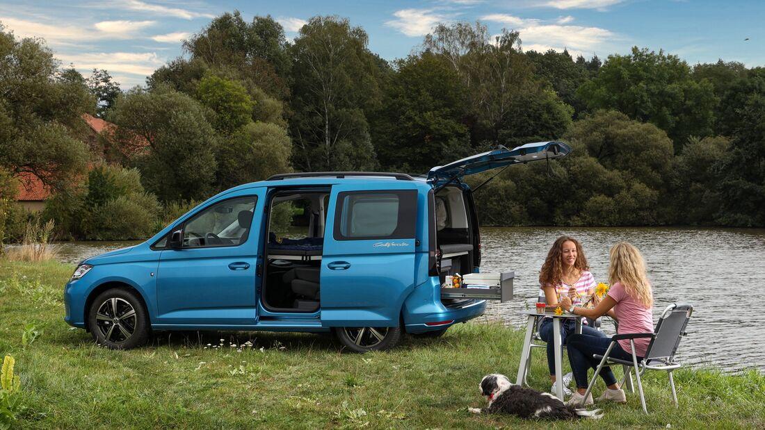 vw caddy california 2020: kompakter camper für den alltag