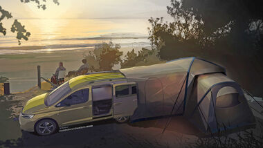 VW Caddy Camper Teaser