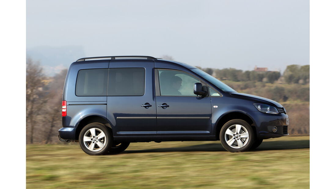 VW Caddy, Heckansicht