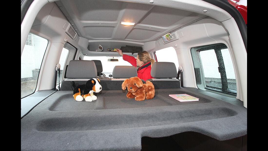 VW Caddy, Innenraum