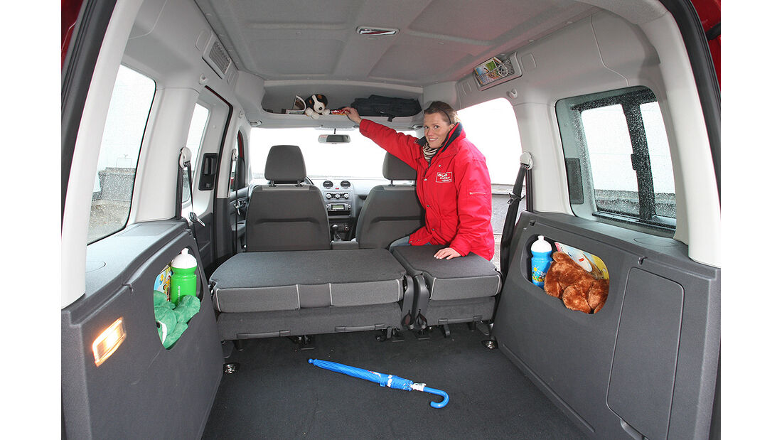 VW Caddy, Kofferraum