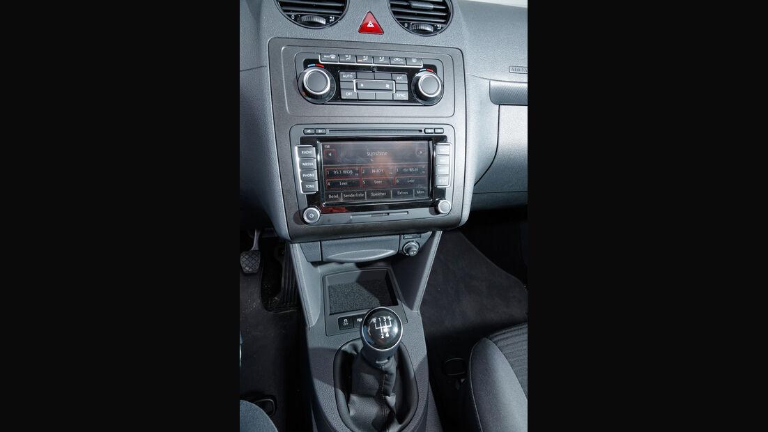 VW Caddy, Mittelkonsole