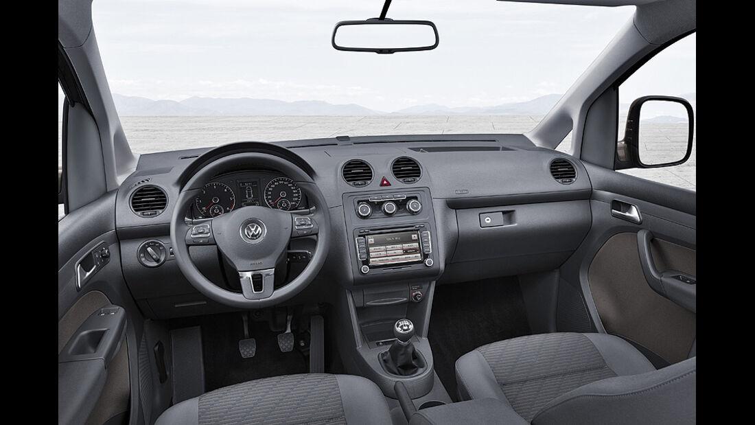 VW Caddy Modelljahr 2010, Cockpit