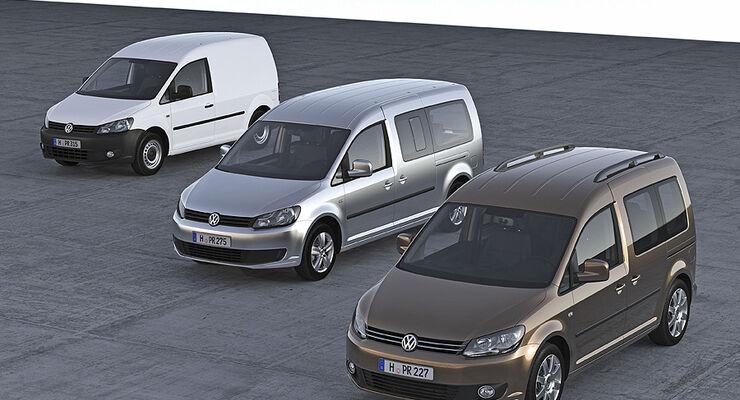 VW Caddy Modelljahr 2010, Gruppenbild