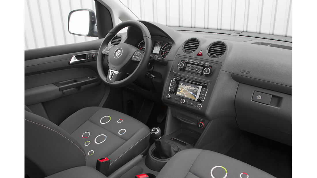 VW Caddy Roncalli Sondermodell, Innenraum