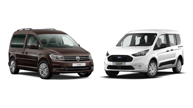 VW Caddy und Ford Tourneo Connect