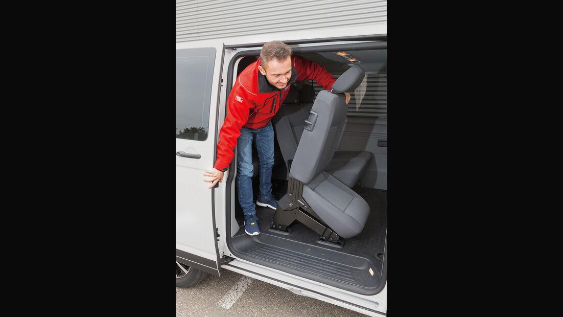 VW Caravelle 2.0 TDI, Fondsitz, Aussteigen