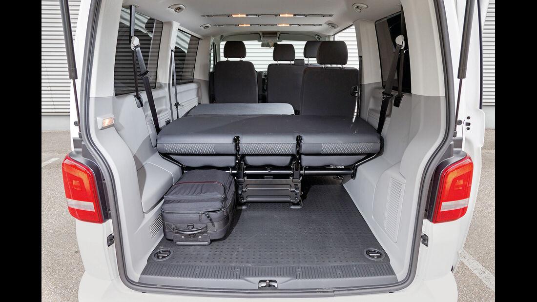 VW Caravelle 2.0 TDI, Kofferraum, Ladefläche