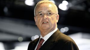 VW-Chef Winterkorn auf der CeBIT 2014.