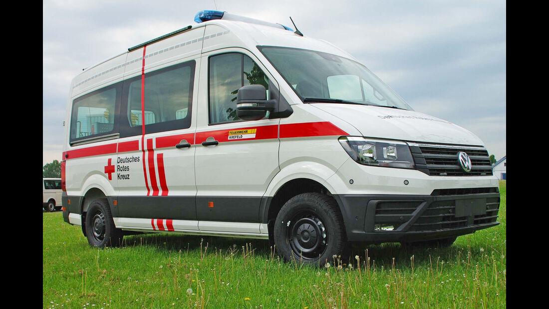 VW Crafter, T6 und Tiguan Feuerwehr / Notarzt Einsatzfahrzeuge auf der Messe Rettmobil 2018