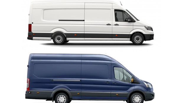 VW Crafter und Ford Transit