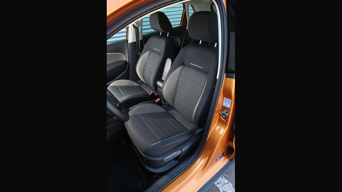 VW Cross Polo 1.2 TSI, Fahrersitz