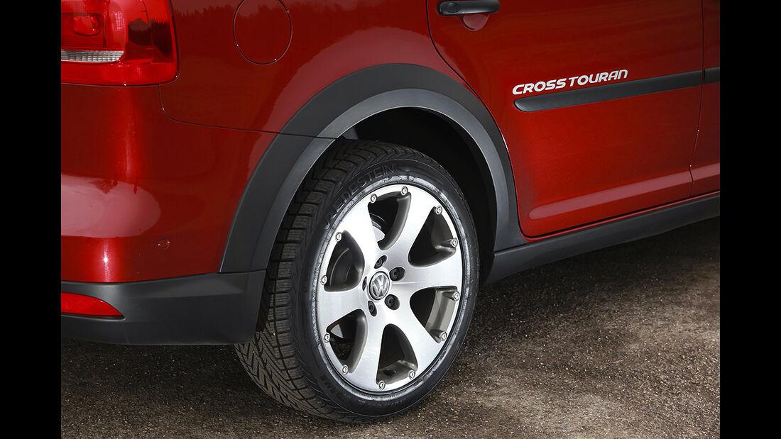 VW Cross Touran, Felge, Beplankung
