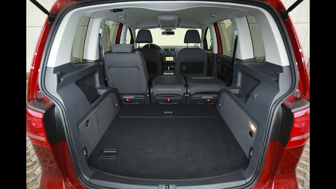 VW Cross Touran, Kofferraum