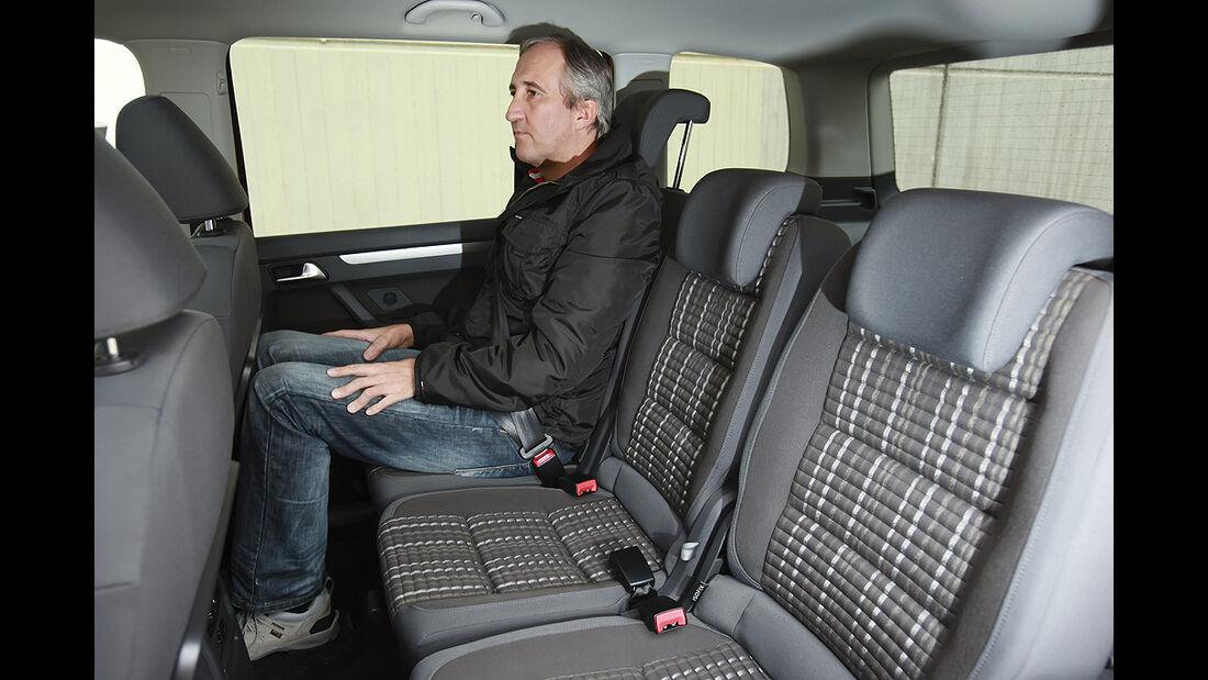 VW Cross Touran, Rücksitze, Rückbank