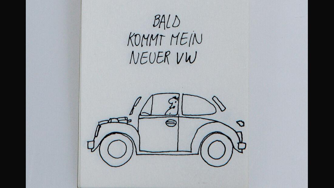 VW Daumenkino, VW Käfer, Wartezeit