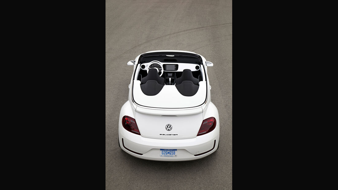 VW E-Bugster, Heckansicht, von oben